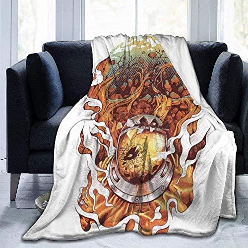"""HDAXIA Decke Kuscheldecke,Daydream Printed Ultra-Soft Flanell Warm Gemütliche Leichte Plüschdecke Throw Fit Couch Bett Sofa Stuhl Erwachsene und Kinder 50\""""X40"""