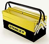 STANLEY 1-94-738 - Caja de herramientas metálica, 50.5 x 24.5 x 25 cm