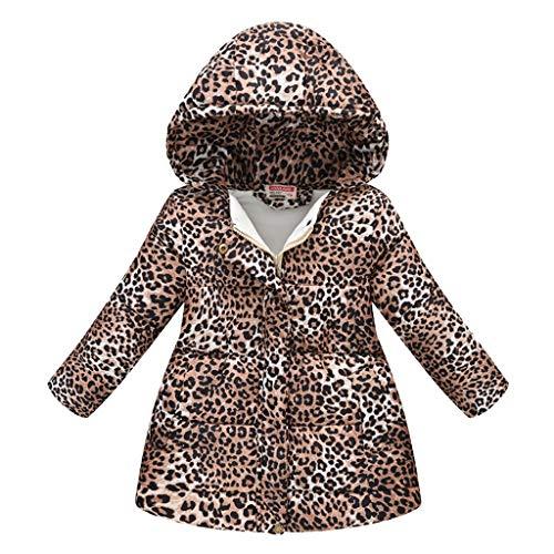 Vectry Abrigo Bebé, Niña Infant Ropa Otoño Invierno Leopard con Capucha Cálido con Capucha Abrigo A Prueba De Viento Chaleco Cárdigan Suéter De Punto Chaqueta Niña Regalo