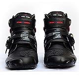 PGthree Biker Boots Hombres Black - Botas de Motocicleta Impermeables, Botas de Motocross con...