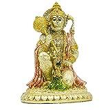 Hindu Monkey Ramayana Hanuman Statue- Indian God Statue Decorative Figurine Hinduism Devotee Lord Rama Shrine Altar Sculpture India Home Office Temple Mandir Pooja Items Yoga Zen Meditation Buddha