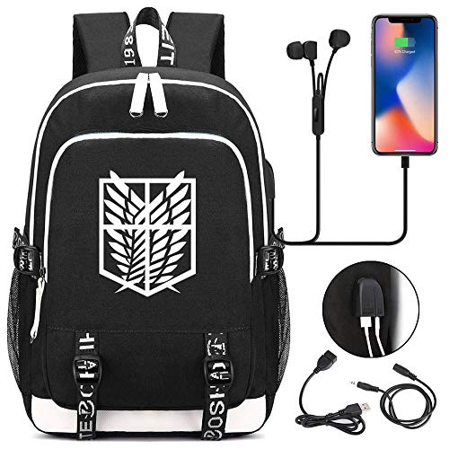 Backpack, laptop backpack, USB charging port, cartoon backpack for boys and girls, stylish and waterproof, suitable for 15.6-inch laptop-11
