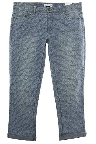 Sheego Jeans Hose Pants Die Gerade Damen Stretch Kurzgröße, Farbe:Jeansblau, Damengrößen:24