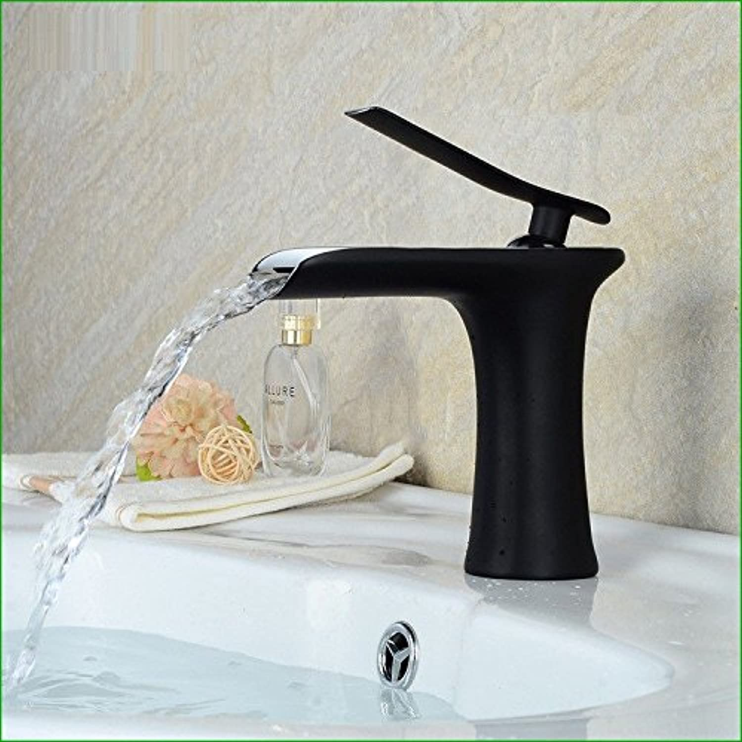 Bijjaladeva Antique Kitchen Sink Mixer Tap The Copper Paint Plating Bath Falls Out of The Water Basin Sinks Kitchen Faucet