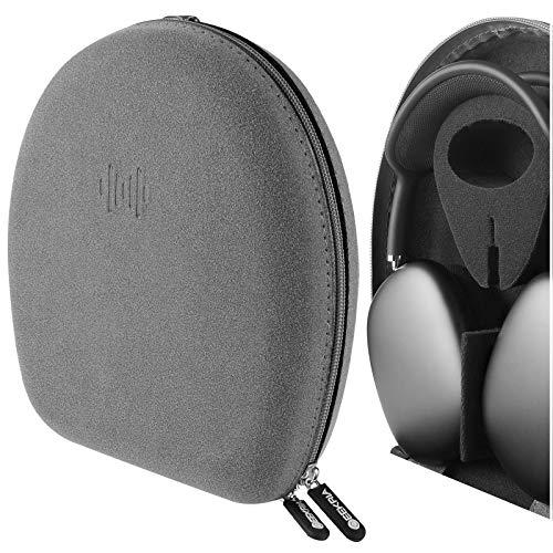 Geekria UltraShell - Funda para auriculares AirPod Max, funda rígida de repuesto con espacio para accesorios (gris oscuro) (no compatible con Smart Case)