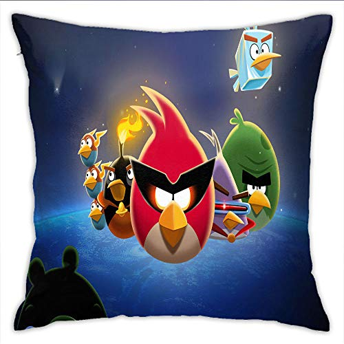 Eqiaoqukeq Square Body Pillowcase, Angry Bird Decorative Pillow Cases ,W14xH14