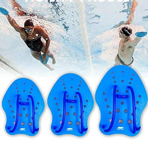 TOMMY LAMBERT - Palas de Mano para natación, Mejora la técnica de natación, Ejercicio, Deportes acuáticos, Manoplas de Ayuda para Adultos y niños Principiantes