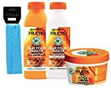 GARNIER FRUCTIS SET HAIR FOOD PAPAYA : SHAMPOO 350 ML + BALSAMO 350 ML + MASCHERA 390 ML + FASCIA