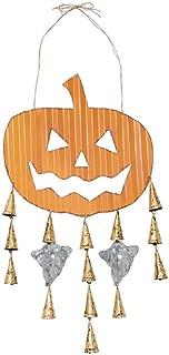 Mud Pie Halloween Pumpkin Tin Door Hanger, 40-inch x 14-inch