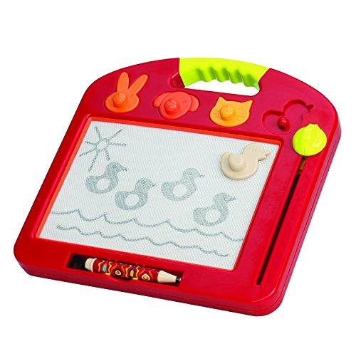 B. toys – Toulouse LapTrec – Ardoise magique portable avec timbres en forme d'animal – pour...