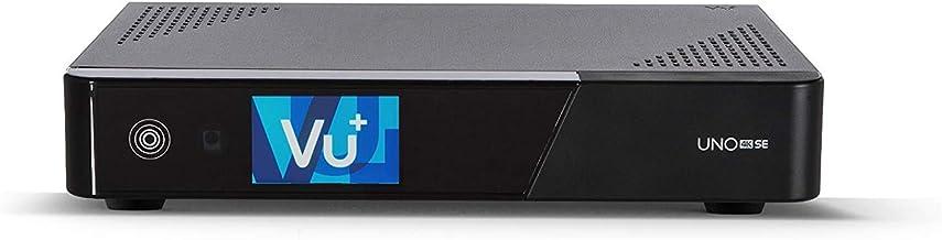 Vu+ Uno 4K SE TV Set-Top Boxes Alta Definición Total Negro - Reproductor/sintonizador (DVB-S2, 576p,720p,1080i,1080p,2160i,2160p, H.264,H.265,HEVC,MPEG4, AAC HE,AC3, 10,100,1000 Mbit/s, 2.5