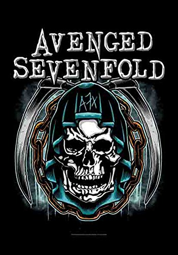 Avenged Sevenfold – Skull – poster drapeau – 100% Polyester – Taille 75 x 110 cm