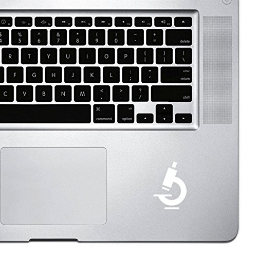 StickAny Palm Series Microscope Sticker for MacBook Pro, Chromebook, and Laptops (White)