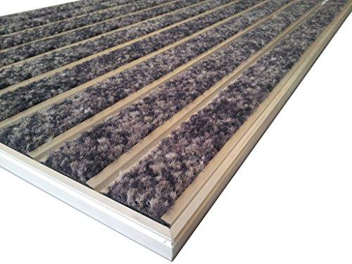 Sistema profesional de aluminio para entrada HD60, cepillo activo, tamaño 92 x 56 cm, para empotrar en la alfombrilla, incluye marco matwell. Color grafito.