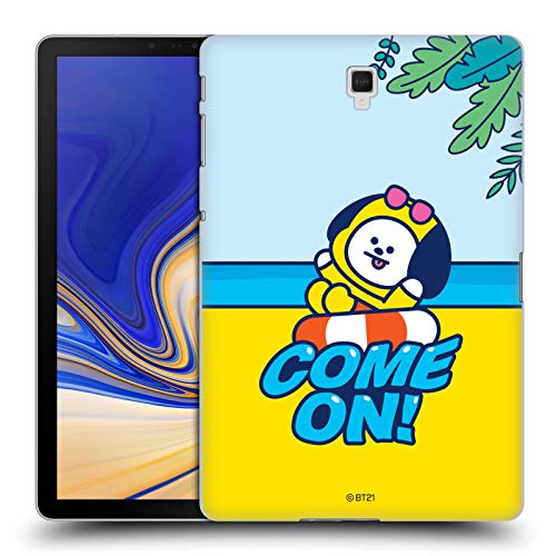 Official BT21 Line Friends Chimmy Bon Voyage Summer Vacation Hard Back Case Compatible for Galaxy Tab S4 10.5 (2018)