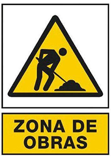NUEVA SEÑAL SEÑALIZACION PREVENCION CARTEL AVISO ZONA DE OBRAS UNE1115 RD30035