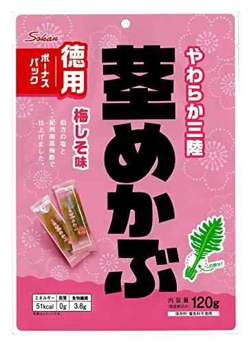 壮関 三陸産茎めかぶ梅しそ味ボーナスパック 120g ×6袋
