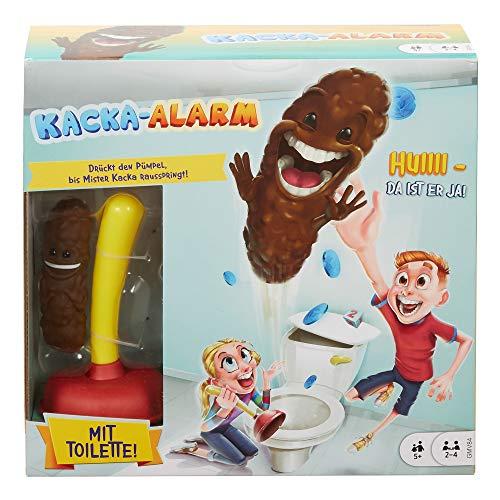 Mattel Games Kacka Alarm deutschsprachig, lustiges Kinderspiel und Partyspiel für 2 - 4 Spieler, Spieldauer ca. 15 Minuten, Kinderspiele ab 5 Jahren