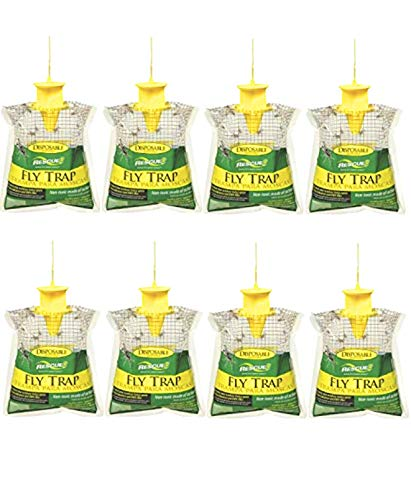 RESCUE! Sterling Outdoor Disposable Fly Catcher, Control Trap with Attractant, Insecticide Free (8 Pack)