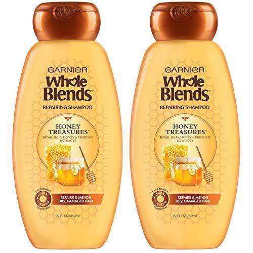 Garnier Whole Blends Honey Treasures Repairing Shampoo for Dry Damaged...