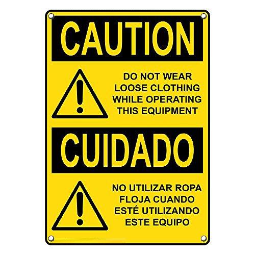 Weatherproof Plastic Vertical OSHA Caution Not Regular store Clo Do Branded goods Loose Wear