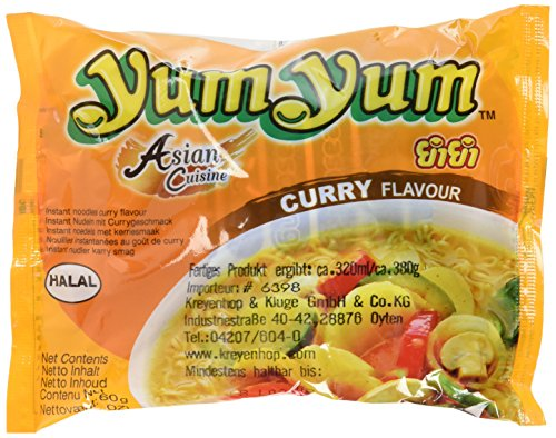 Yum Yum Instantnudeln, Curry, 30er Pack (30 x 60 g)