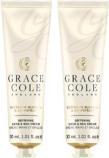 Grace Cole Nectarine Blossom & Grapefruit Hand & Nail Cream 2 x 30ml