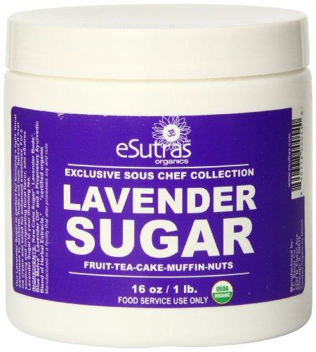 Esutras Organics Sugar, Lavender, 16 Ounce