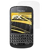 atFolix Panzerfolie kompatibel mit BlackBerry Q10 Schutzfolie, entspiegelnde & stoßdämpfende FX Folie (3X)