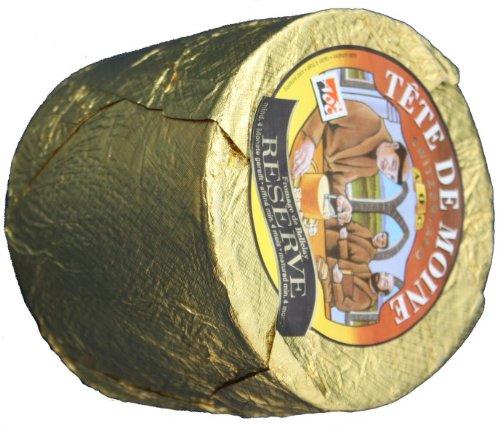 ca. 800 g Reserve Tete de Moine AOP Orig. Schweizer Mönchkopf Käse Ganzer Laib