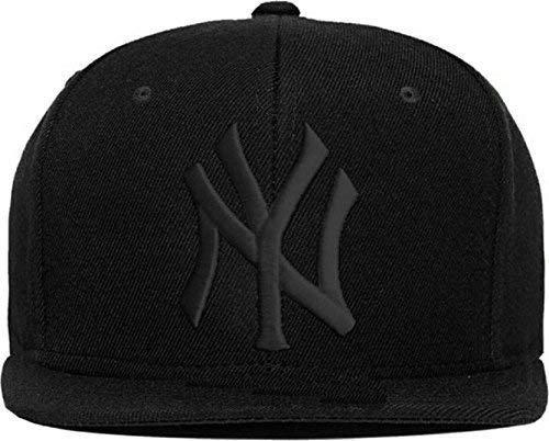 Niue Black Logo Cotton Hip Hop Cap (Black,Free Size)