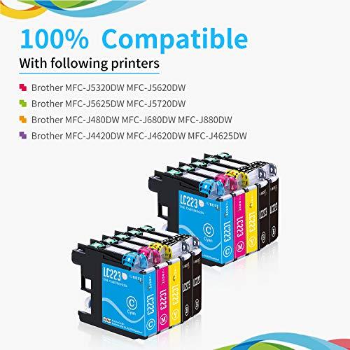 IUBEST LC 223 Reemplazo para Brother LC223 cartuchos de tinta Compatible con Brother DCP-J4120DW J562DW MFC-J5320DW J880DW J5620DW J5625DW J680DW J4625DW J5720DW J4420DW J4620DW J480DW