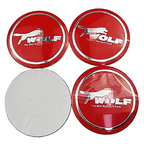BRCALKY 4 Piezas Rueda de Centro Tapacubos, para Ford Focus Fiesta Kuga Impermeable Resistente a los arañazos y Resistente al Desgaste Accesorios De Estilo del Logotipo