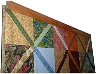 Matlock Woodworks Oak Compression Type Quilt Rack Tapestry Rug Hanger - Your Custom Size and Color up to 36