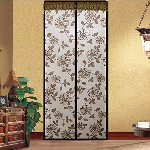 Mosquito Gordijn, Summer Flower Butterfly Magnetic Screen Net Deur Autosluitingstijd Anti Insect Huisdieren Friendly,A,90 * 200cm
