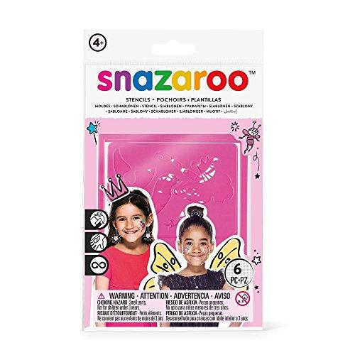 Snazaroo - Set de 6 plantillas de pintura facial, fantasía