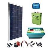 Kit Solar 12v 600W/3000W día Hora Regulador de carga PWM 40A Batería UP-GC16 600Ah Inversor 2000w onda pura con cargador 35Ah