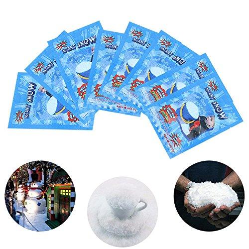 Edhua - 1 pieza de nieve artificial instantánea falsa nieve mágica esponjosa...
