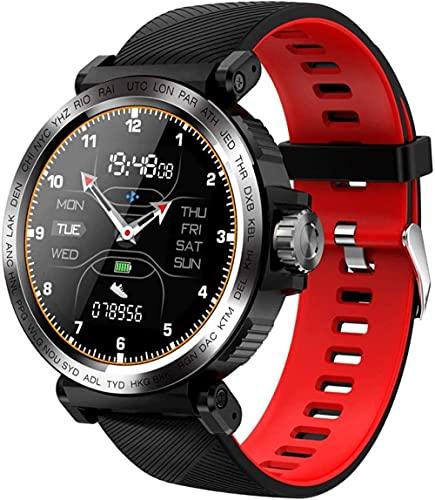 Reloj inteligente IP68 impermeable deportes fitness tracker podómetro pantalla táctil pulsera inteligente llamada recordatorio remoto foto reloj-gris