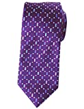 xtra long neck ties - Extra Long Tie Purple/Blue Rectangle Mens Jacquard Handmade XL Necktie 63