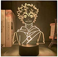 3Dイリュージョンナイトライト 笑顔の男の子 LED3Dキッズおもちゃベビースリープデスクランプ寝室の装飾ベッドサイドスマートタッチ7色変化する調光可能、女の子の男の子のための最高のおもちゃの誕生日