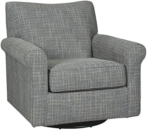 Best Signature Design by Ashley Renley Swivel Glider Accent Chair, Ash