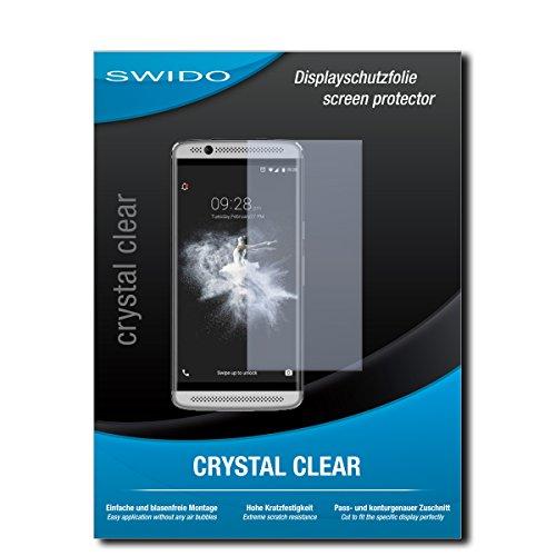 SWIDO Bildschirmschutzfolie für ZTE Axon 7 Mini [3 Stück] Kristall-Klar, Extrem Kratzfest, Schutz vor Öl, Staub & Kratzer/Glasfolie, Bildschirmschutz, Schutzfolie, Panzerfolie