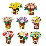 Artibetter 8セット 手作り花束 DIY不織布 造花 クラフト 手芸 子供 知育教材