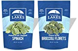 Thousand Lakes Freeze Dried Fruits and Vegetables - Broccoli Florets & Spinach 2-pack | 10...