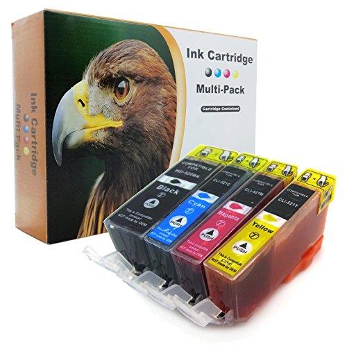 20er-Set D&C Druckerpatronen ersetzt PGI-520 CLI-521 für Canon Pixma iP3600 iP4600 iP4700 MP540 MP550 MP560 MP620 MP630 MP640 MP980 MP990 MX860 MX870