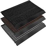 casa pura Fußmatte Power Brush mit Hochleistungs-Bürsten | TÜV geprüft | rutschfeste Schmutzfangmatte mit Anlaufprofil | Bürstenmatte für draußen (grau, 50x80 cm)
