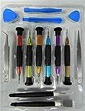 Kit de reparación de apertura, juego de destornilladores, herramientas de reparación de teléfono, desmontar, herramienta para iPhone, iPad, HTC y teléfono móvil