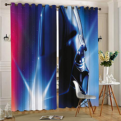 Petpany super darth vader Drop Thermal Insulated Draperies Star Wars Blackout Curtains Drapes for Kid's Room for Boys and Girls Bedroom 55'x45'