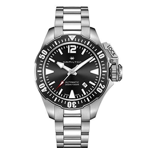 Hamilton H77605135argento orologio da polso uomo khaki navy Frogman auto